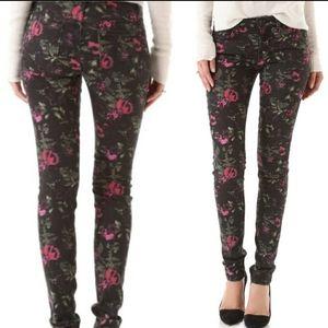 Joe's jeans new floral black pink skinny Jeans